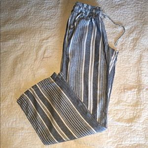 Stripped beach pants